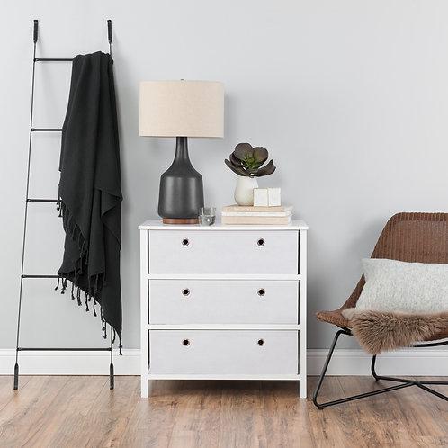 EZ Home Solutions ™ Foldable Furniture 3 Drawer Single Dresser 31x31x19 - White