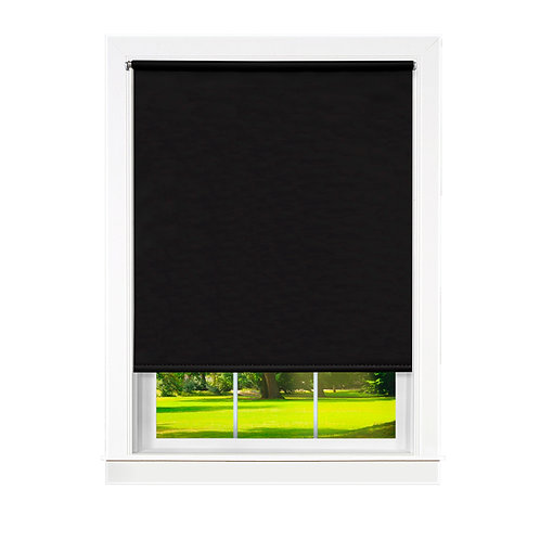 Cords Free Tear Down Light Filtering Window Shade - Black