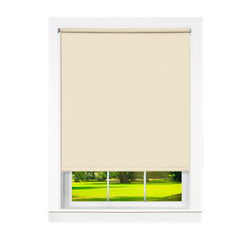 Cords Free Tear Down Room Darkening Window Shade - Ivory