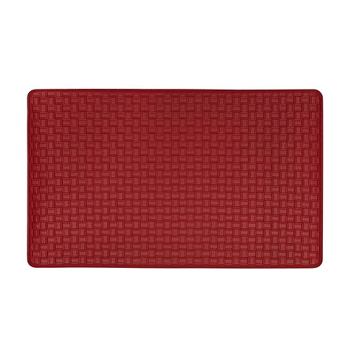 Embossed Leather-like Anti-Fatigue Mat - Lava