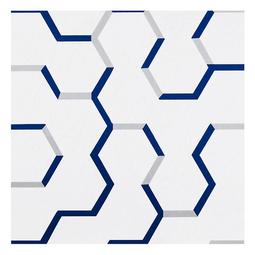 Retro 12x12 Self Adhesive Vinyl Floor Tile - 20 Tiles/20 sq. ft. - Geo Puzzle