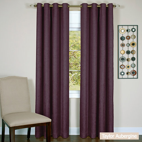 Taylor - Lined Grommet Window Curtain Panel