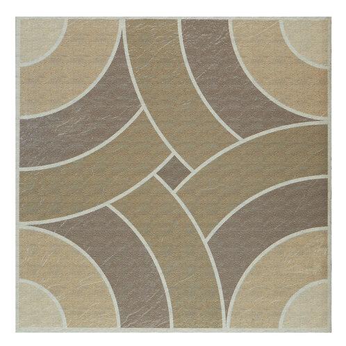 Retro 12x12 Self Adhesive Vinyl Floor Tile - 20 Tiles/20 sq. ft. - Swirls Toffee