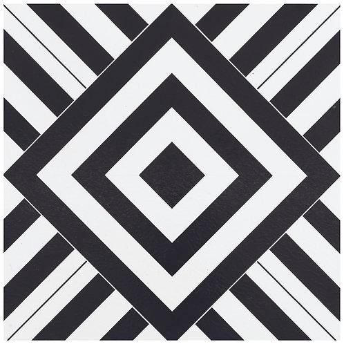 Retro 12x12 Self Adhesive Vinyl Floor Tile - 20 Tiles/20 sq. ft. - Geometric