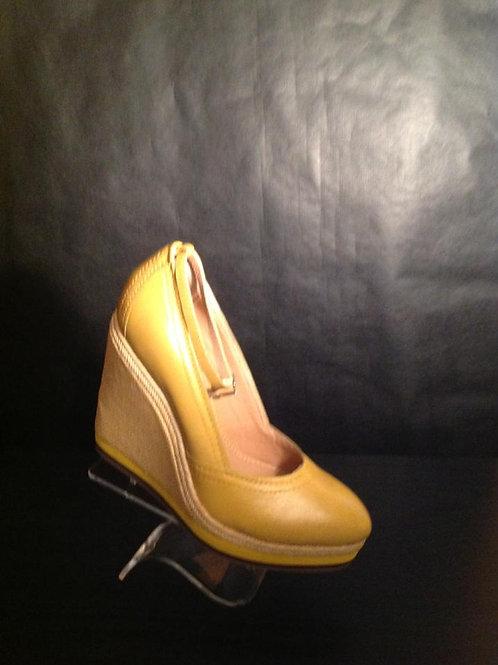 G&E Mustard Fashion Wedge