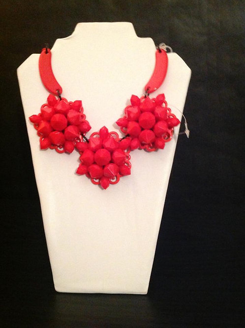 G&E Red Rosey Necklace
