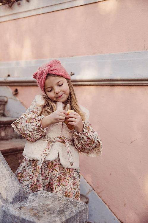 Louise Misha - Eva Reversible Vest  Cream - Cream French Flowers