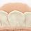 Thumbnail: Meri Meri - Peach Daisy Baby Bonnet