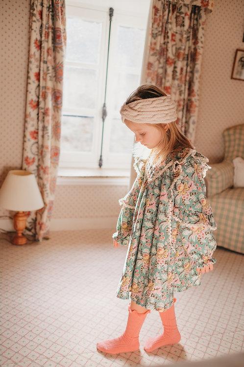Louise Misha - Lara Dress  Blue French Flowers