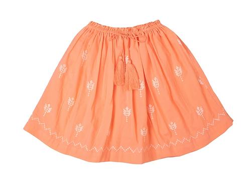 [Pre-Order] Kidsagogo - Juniper Skirt Hibiscus/White