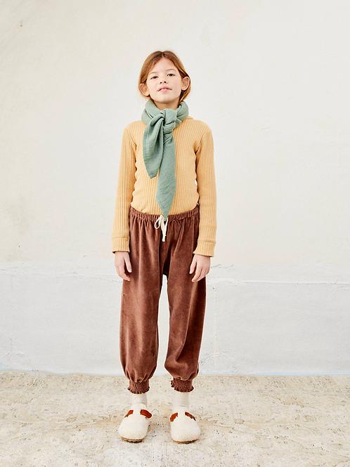 LIILU - Smocked Pants Brownie