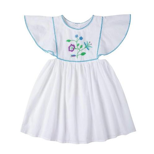 [Pre-Order] Kidsagogo - Mia Dress Wthie/Cool