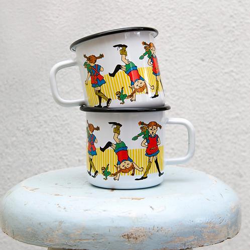 Pippi enamel mug Pippi Longstocking 370ml - Muurla