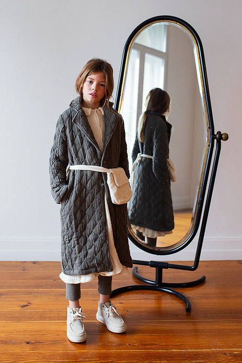 Belle Chiara -  Big Diamond Grey Coat