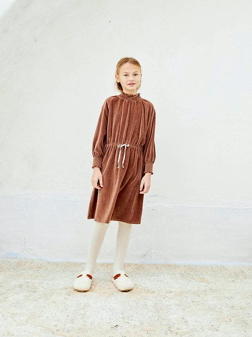 LIILU - Smocked Dress Brownie