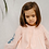 Thumbnail: LALI - Hand Embroidered Pink Swiss Dot Tulip Dress