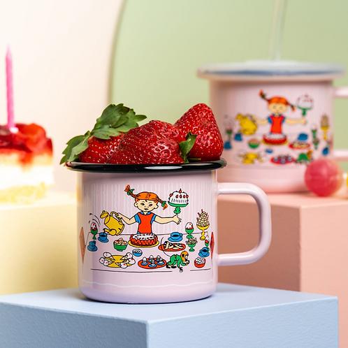 Pippi enamel mug Pippi's Birthday 370ml -Muurla