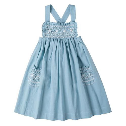 [Pre-Order] Kidsagogo - Willow Dress Dusky Blue