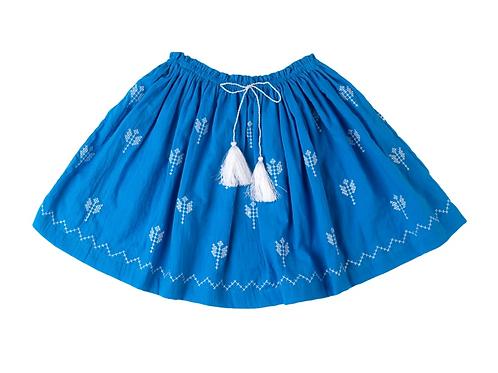 [Pre-Order] Kidsagogo - Juniper Skirt Cobalt/White