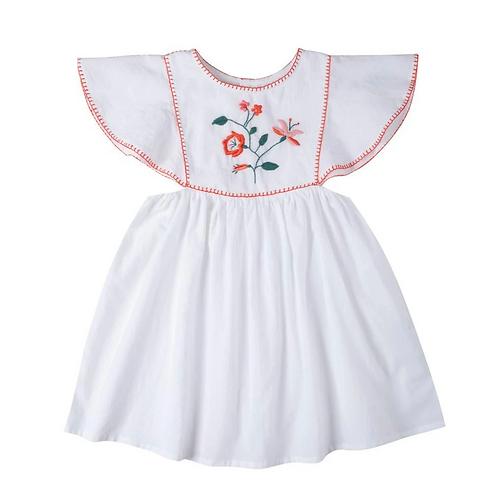 [Pre-Order] Kidsagogo - Mia Dress Wthie/Hot