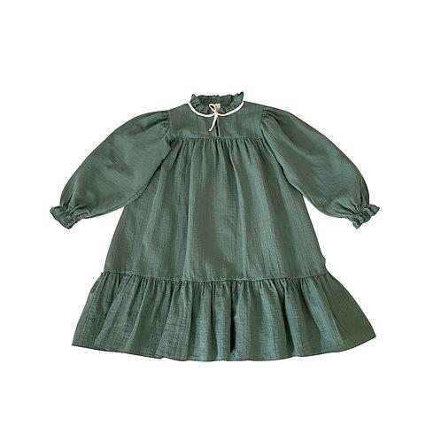 LIILU - Agatha Dress Dark Ivy