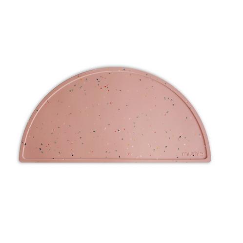 Mushie - Silicone Place Mat (Powder Pink Confetti)