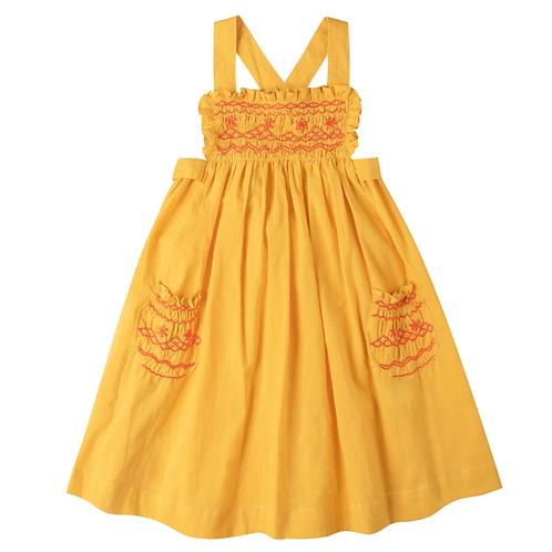 [Pre-Order] Kidsagogo - Willow Dress Yellow Red