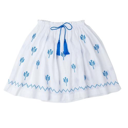 [Pre-Order] Kidsagogo - Juniper Skirt White/Blue