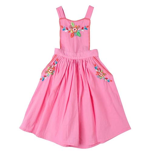 [Pre-Order] Kidsagogo - Marissa Pinnie Dress Rose