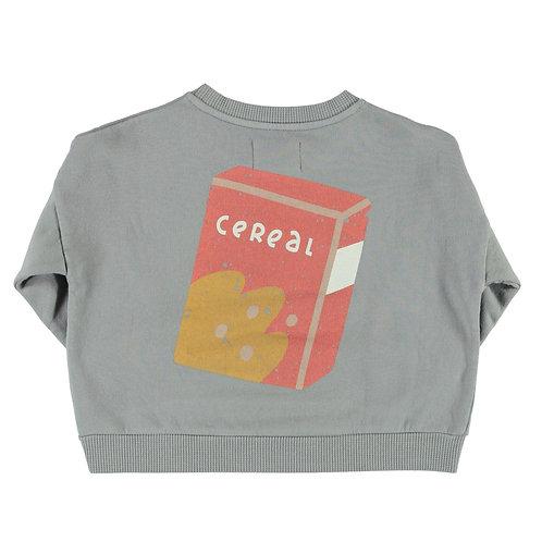 Piupiuchick - Unisex sweatshirt | grey w/ cereal box print