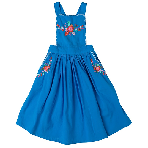 [Pre-Order] Kidsagogo - Marissa Pinnie Dress Cobal