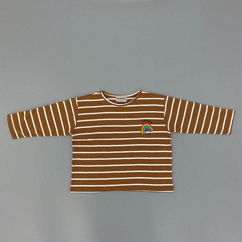 En:Paper - Brown Stripe T Shirt