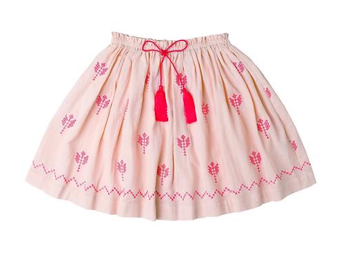 [Pre-Order] Kidsagogo - Juniper Skirt Cobal/White