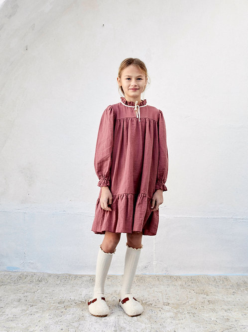 LIILU - Agatha Dress Light Mahogany