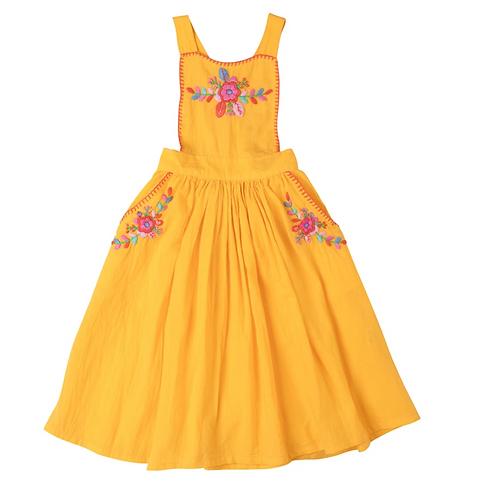 [Pre-Order] Kidsagogo - Marissa Pinnie Dress Marigold