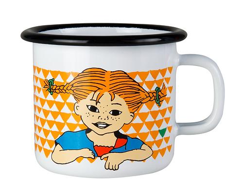Pippi enamel mug Here comes Pippi 250ml - Muurla