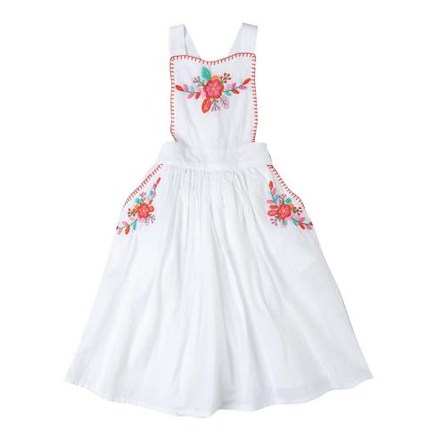Kidsagogo - Marissa Pinnie Dress White