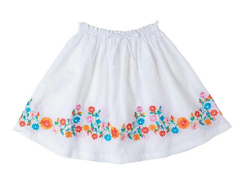 [Pre-Order] Kidsagogo - Posie Skirt White