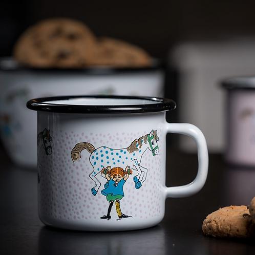 Pippi enamel mug Pippi and the Horse 250ml - Muurla