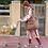 Thumbnail: Piupiuchick - long shirt dress | light pink w/ peaches allover