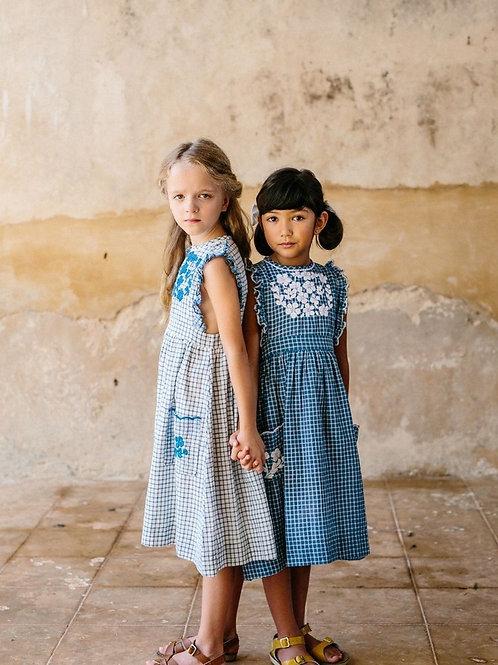 LALI - CLOVER DRESS - BLUE CHEX