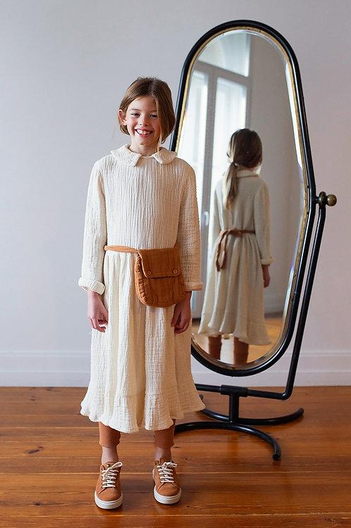 Belle Chiara -  Dress Apron Mousseline Cream