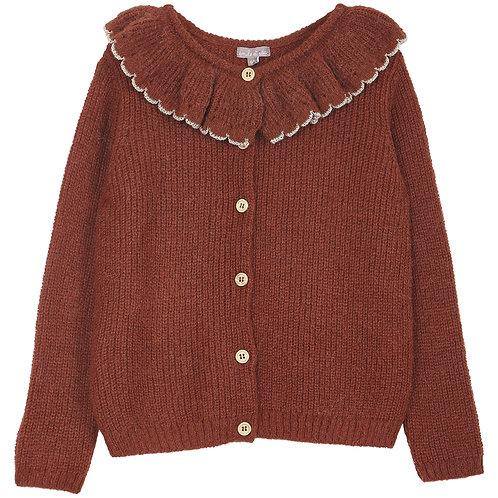 Emile et ida - Pink Alpaca Wool Girl Cardigan