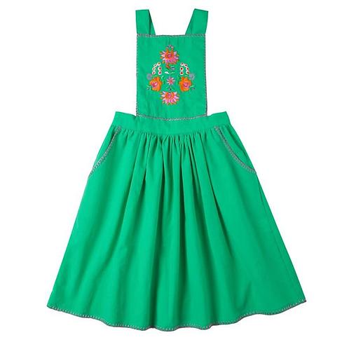 Kidsagogo - Marie Pinnie Dress Grassgreen