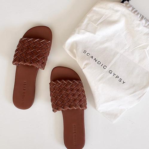 Scandic Gypsy - Woven Leather Slide