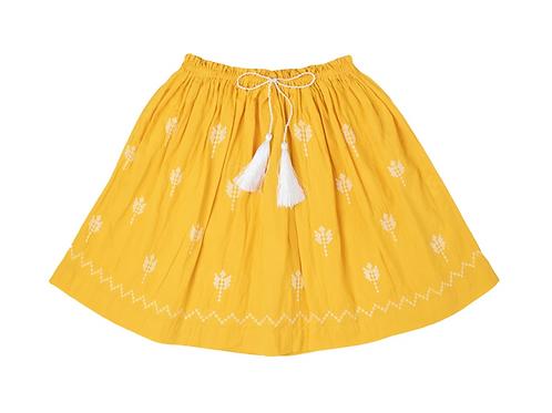 [Pre-Order] Kidsagogo - Juniper Skirt Marigold/White