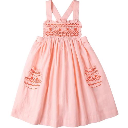 [Pre-Order] Kidsagogo - Willow Dress Guava/Red