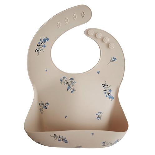 Mushie - Silicone Baby Bib (Lilac Flowers)
