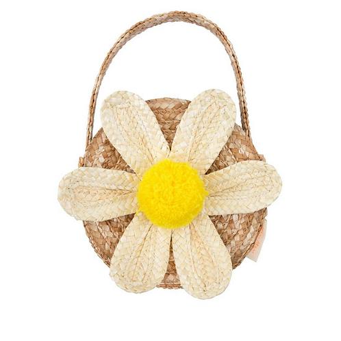 Mery Mery - White Daisy Straw Bag
