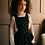 Thumbnail: Emile et ida -  Daffodil Velvet Girl Dungarees Skirt